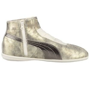 Puma Metallic Eskiva Mid High Top Sneaker Shoes Size 8.5